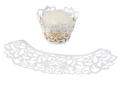 White Laser-Cut Cupcake Wrappers  (24 Pack)