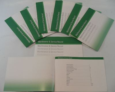 Replacement Generic Service History Book Suitable For Aston Martin  Green