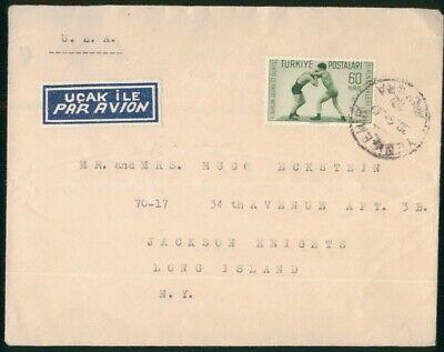 MayfairStamps Turkey Ankara to Jackson Heights New York Air Mail Cover wwo48475