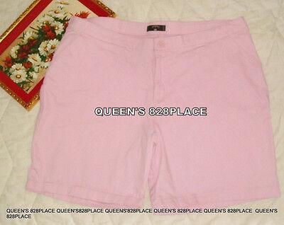 Lee Riders women's Plus Size 20W Stretch Pink Bermuda shorts