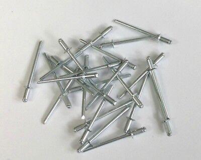 "(600) 1/8"" Counter Sunk Steel Pop Blind Rivets 3/16"" Grip 1/8"" Diameter"