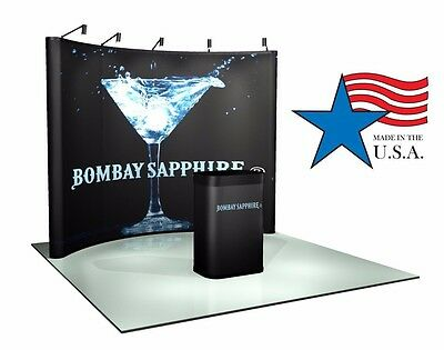 10ft Trade Show Pop-up Display Booth Brand New Pop-up Hardware Only
