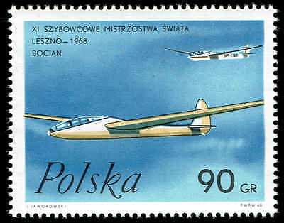 - Scott # 1586 - 1968 - ' Storks ', Polish Gliders
