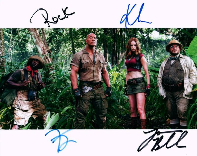 Jumanji Kevin Hart + 3 signed 8x10 Photo with COA autographed Picture very nice
