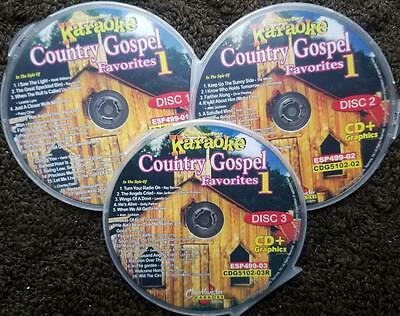 COUNTRY GOSPEL FAVORITES 3 CDG SET CHARTBUSTER HITS KARAOKE 50 SONGS CD+G 5102 50 Song Set
