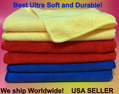 6  LARGE MICRO-FIBER CLEANING CLOTH TOWEL > GLASSES GLASS
