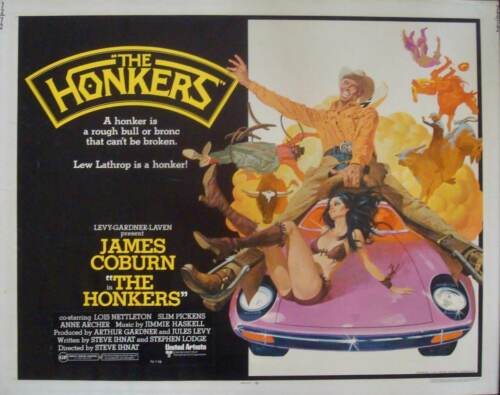 HONKERS US half sheet movie poster 22x28 JAMES COBURN ROBERT McGINNIS art