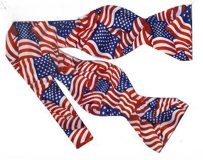 American Flag Bow tie / Self-tie Bow tie / USA Flags / Patriotic Bow tie (Patriotic Bow Ties)