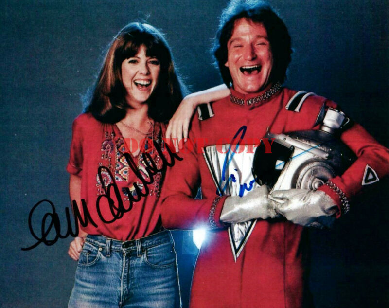 Robin Williams Pam Dawber signed 8x10 Picture Autographed Photo Mork and Mindy r