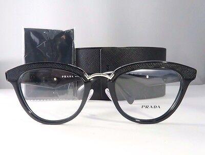 Prada VPR 26S 1AB-1O1 Shiny Black New Authentic Eyeglasses 51mm w/Case
