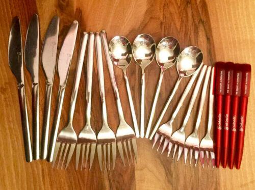 16x AirBerlin Besteck ✈ Cutlery Set 4x4 pcs ✈ Business Class ✈ NEU + 4x Kuli/Pen