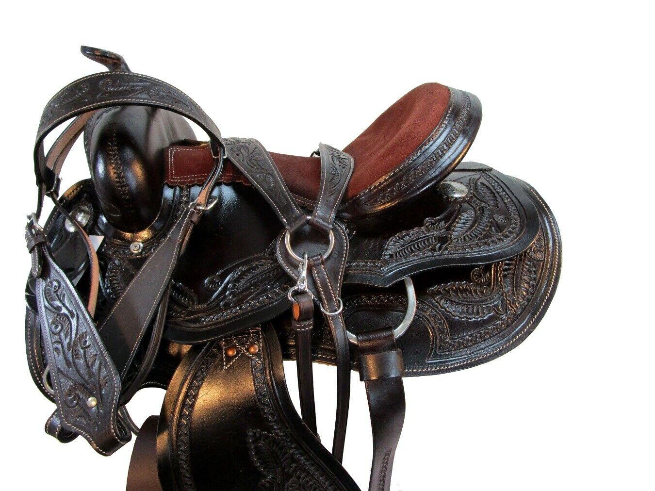 WESTERN COWBOY SADDLE BARREL RACING 15 16 17 PLEASURE HORSE