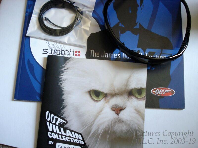 NEW/HTF SWATCH WATCH 007 JAMES BOND AND VILLIANS CATALOG SET