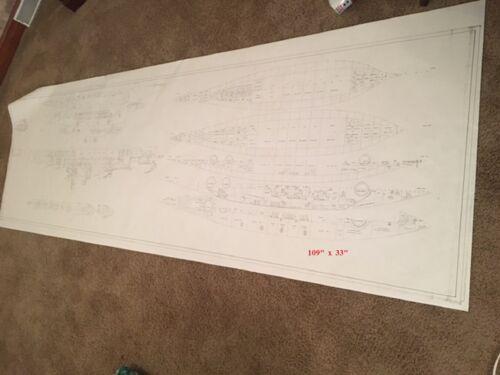 USS N CAROLINA BB-55? WASH 56? ship study plan 1935 BUSHIPS US Navy BATTLESHIP