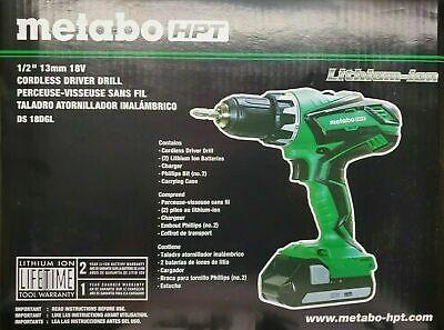 Hitachi Metabo Hpt Ds18dgl 18v Cordless Lithium-ion 12 Drill Driver Kit New