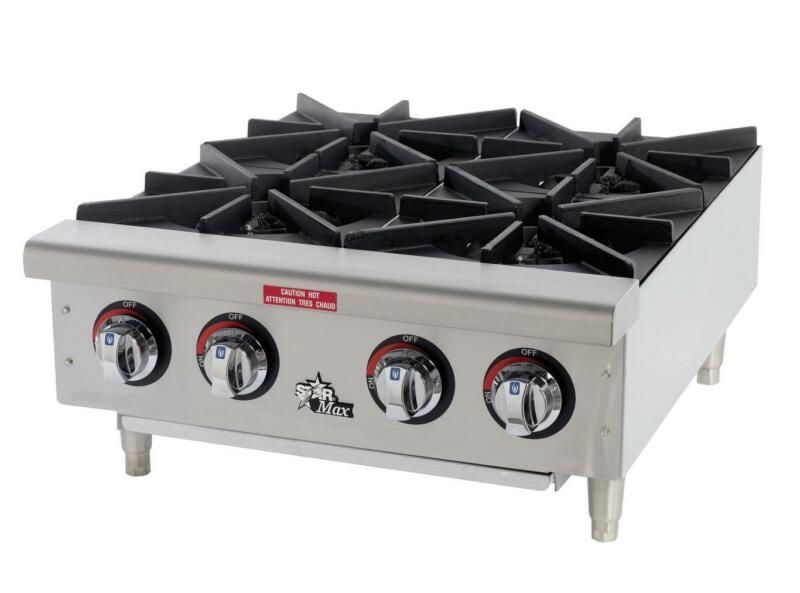 Star 604hf Star-max 4 Burner 100kbtu Countertop Gas Hot Plate