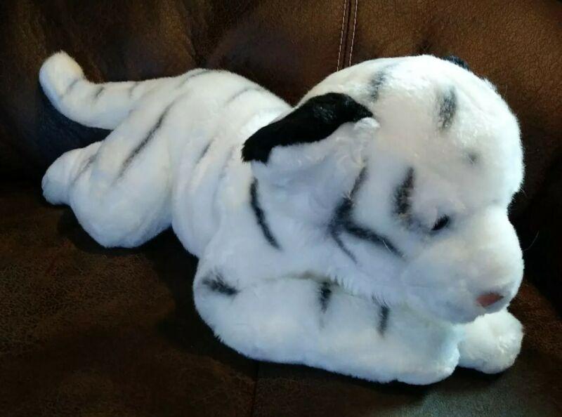 Animal Alley Toys R Us White Tiger Stuffed Animal Plush Safari 17 Inch EUC