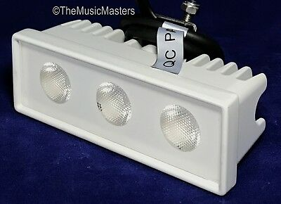 White Waterproof 12 Volt LED Boat Docking Spreader Deck Light Utility Flood Lamp