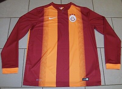 * Galatasaray Football Shirt - Long Sleeved - Nike Dri Fit - Size Adult Large *