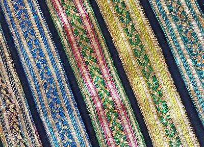 56mm Fancy Trim/Lace Ethnic Indian - Braid/Gimp - 1m Fancy Lace Trim