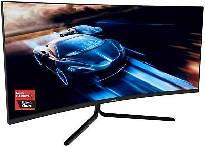 Open Box VIOTEK GNV34DBE 34-In Curved Gaming Monitor 144Hz G-Sync-Ready FreeSync