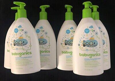 6 BABYGANICS FRAGRANCE FREE DAILY MOISTURIZING LOTION 17oz each Baby Daily Moisturizing Lotion