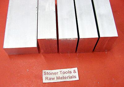 5 Pieces 12 X 1 Aluminum 6061 Flat Bar 6 Long .500 T6511 New Mill Stock