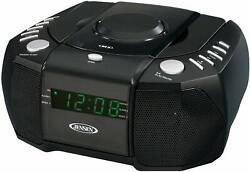 New Jensen CD Player Digital Dual Alarm Clock AM/FM Stereo Radio AUX LED Display