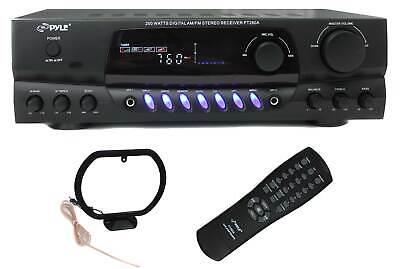 PYLE PRO PT260A 200W Home Digital AM FM Stereo Receiver Thea