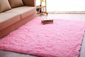 High Quality Ltra Soft 4.5 Cm Thick Indoor Morden Area Rug Baby Pink Girls Shag 4u0027 X