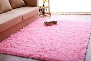 Ltra Soft 4.5 Cm Thick Indoor Morden Area Rug Baby Pink Girls Shag 4u0027 X