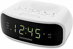Magnasonic Digital AM/FM Clock Radio with Battery Backup, Dual Alarm, Sleep &