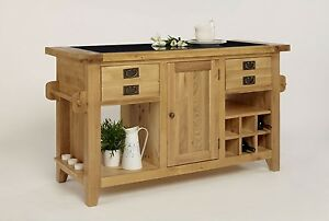 Fully assembled dining room country house solid oak for Pre assembled kitchen units