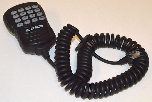 BK Radio DTMF Programming Microphone, LAA0290 for DMH, GMH, EMH, EMV *Used*