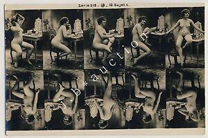 NUDE-WOMAN-POSING-NACKTE-FRAU-IN-POSE-Vintage-10s-Photo-Sample-Card-Muster
