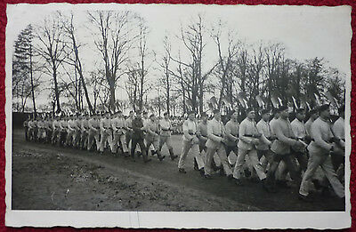 AK FOTOPOSTKARTE REICHSARBEITSDIENST PARADE RAD HAMBURG WANDSBECK vor 1940