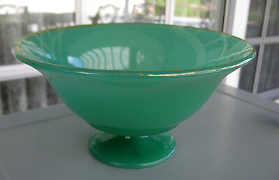 SCARCE Northwood Jade Green Footed Glass Compote #652 circa 1924