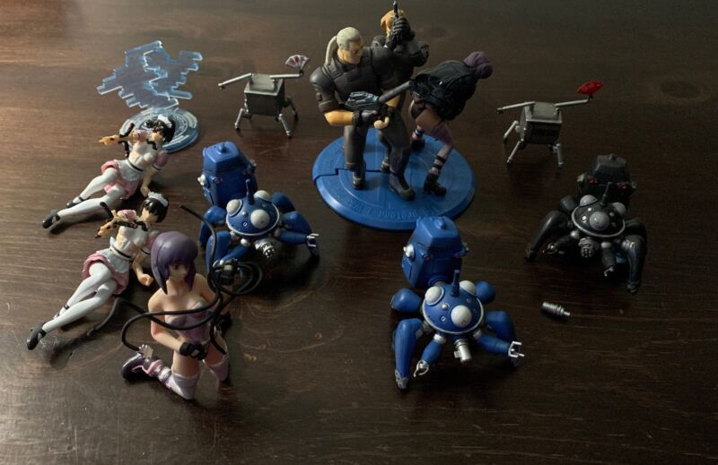 Ghost In The Shell STAND ALONE COMPLEX Shokugan Figure Lot MEGAHOUSE Lot of 10