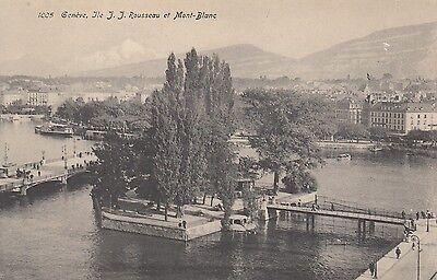 Postkarte - Genève / Ile I.I. Rousseau