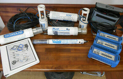 Hydrolab Lot H20 Reporter Stirrer Sonde Scout 2 100 Cable Manual Power Pack
