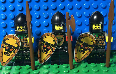 Lego Minifigures Lot 3 Bull Knights Army Castle Guys Lego Minifig Spears Shields
