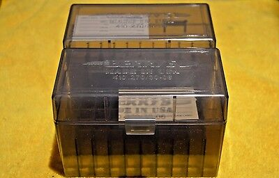 BERRY'S PLASTIC AMMO (2) 50 Round Storage Boxes For 30-40 KRAG FREE SHIPPING