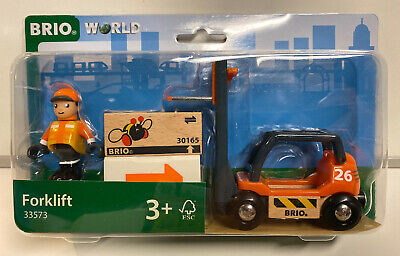 Brio World Wooden Railway Forklift #33573, New Brio Wooden Railway