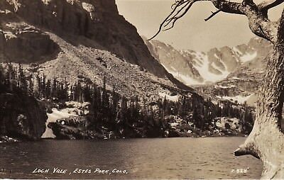 RPPC Loch Vale, Estes Park, Colo. DOPS stamp box  PL4 for sale  Albany