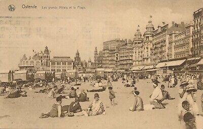 CPA - Belgique - Oostende - Ostende - Les grands hôtels de la plage
