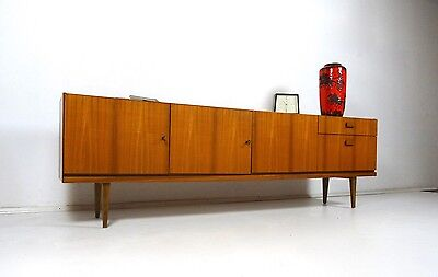original 60er design sideboard danish modern m bel teak mid century 50er ebay. Black Bedroom Furniture Sets. Home Design Ideas