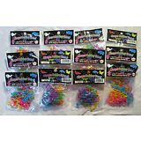12 Packs of 12  / 144 pieces Fun Bands Silly Shapes Rubber Bandz Bracelets 873N