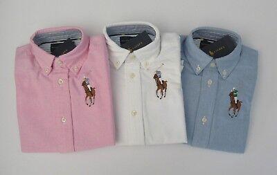 - NWT Ralph Lauren Boys Long Sleeved Big Pony Oxford Shirt Sz 5 6 or 7 NEW $45