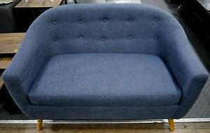 New Blue Scandi Danish Luna 2 Seater Sofa Suite Lounge Couch Melbourne CBD Melbourne City Preview
