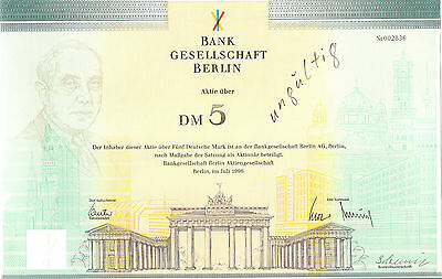 Bankgesellschaft Berlin Aktie